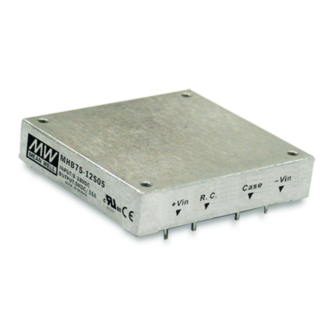 MHB75 Series 75W Mean Well Regulated Converter Power Supply