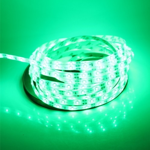 Waterproof 5M 16.4Ft Green 3528 LED Strip Light 300LEDs 12V 3pcs
