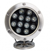 12W IP68 Waterproof LED Underwater Light 1200LM Lamp