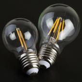 2W 4W Filament Edison Bulb LED Light Vintage G45 Glass Spotlight 5pcs