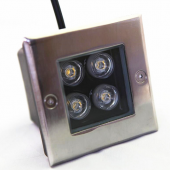 4W Square LED Underground Light DC12V Outdoor Lighting
