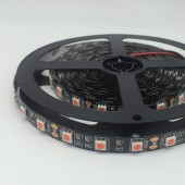 5M 300LEDs Black FPCB Pink 5050 12V LED Strip 60LEDs/m Ribbon Light