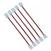 8mm 2pin Connector Wire For 3528 Single Color LED Strip 20Pcs