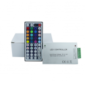 DC 12V-24V 44Keys LED IR Remote Controller For RGB Strip Light 2pcs
