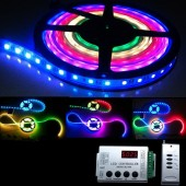 DC 12V TM1812 RGB Pixel 5M 300LEDS Strip Light With RF LED Controller