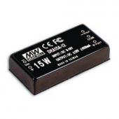 DKA15 Series 15W Mean Well Regulated Converter Power Supply