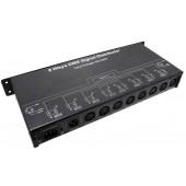 DMX128 DMX Signal Distributor AC 100-240V 7W 8CH Leynew LED Controller