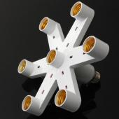E27 7 in 1 Lamp Holder Bulb Adapter Spotlight Splitter Pendant