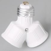 E27 Bulb Base Socket Y Shape 1 To 2 Converter LED Light Splitter 5pcs