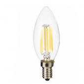 LED Bulb E14 6W Glass Vintage Candle Light C35 Filament Lamp 3pcs
