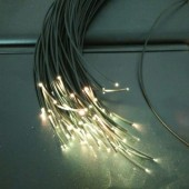 350M 2mm Diameter PMMA Plastic Optic End Glow Fiber Cable With Black Jacket