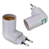 PP To E27 Screw Socket Bulb Base Lamp Holder Switch Converter 5pcs