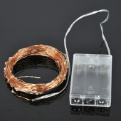 Warm White Battery Powered String 10M 100LEDs LED Copper Wire Fairy Light 2pcs