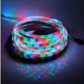 Waterproof 3528 RGB LED Strip Light 5M 300 LEDs 12V 2pcs