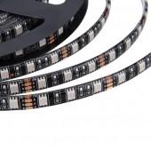 Waterproof 5050 RGB Black PCB 5M 300LEDs LED Strip Flexible Light 2pcs