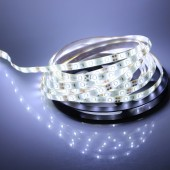 Waterproof 5M White 3528 LED Flexible Strip Light 12V 300LEDs 3pcs