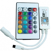 WiFi IR Wireless Control RGB RGBW LED Controller 24 Key IR Remote