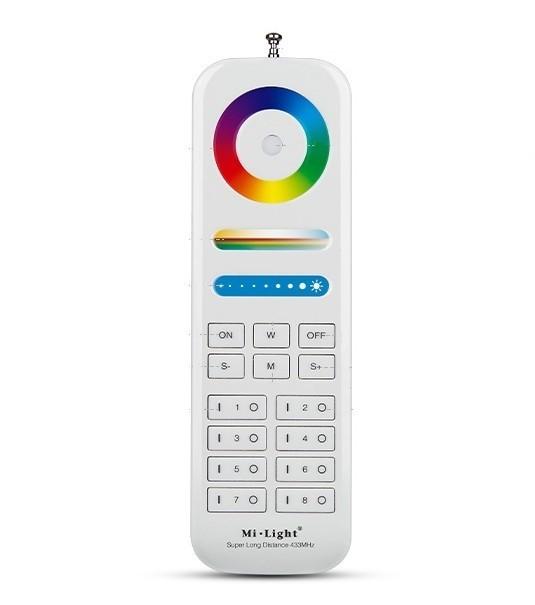 Milight FUT086 8-Zone Powerful RF Wireless Remote Controller 433M Max 50 Meters Control