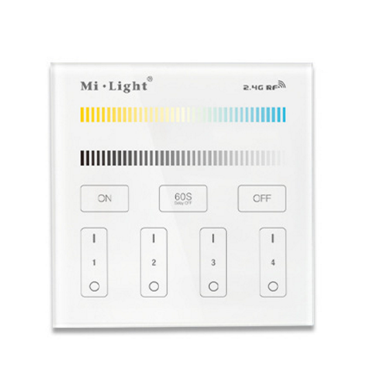 Mi.Light B2 4-Zone CCT Adjustable Touch Panel Remote Controller
