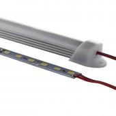 1Meter Fixtures Housing Aluminum Extrusion LED Profiles Channel 24pcs