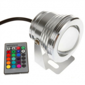10W 12V 24V RGB LED Underwater Light 1000LM Lamp IP68 Waterproof