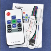 12A Brightness Speed Adjust LED Strip Light Mini RF Controller Remote