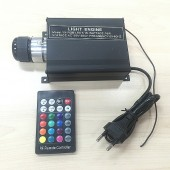 16W RGB Twinkle Star Fibre Optic Light Engine With 28 Key RF Remote Controller
