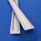 1 Meter Flat Thin Aluminium Profile Anodized Channel LED Light Housing 24pcs
