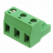 3 Pin Terminal Block Headers Plug Socket Term Blocks Connector 30pcs