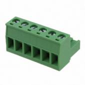 6 Pin Terminal Block Headers Plug Socket Term Blocks Connector 10pcs