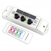 BC-350RF Rotary Bincolor Remote Control DC 12-24V 3CH Display Led Controller
