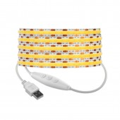 DC 5V USB FCOB LED Strip 8mm COB Lights Flexible Linear Dimmable Lighting