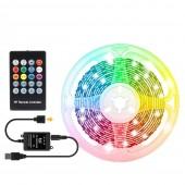 DC 5V USB LED Strip Lamp 5050 RGB Flexible Backlight TV PC Screen Background Light