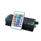 Sound Activated Music LED Controller 2 Ports Remote Control DC 12V 24V