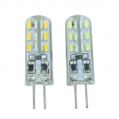 G4 3014 LED Light Bulb 24LEDs DC12V AC220V With Soft Silicon 20pcs