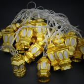 Holiday Decoration Light 4M 20LEDs Chinese Golden Lanterns String 2pcs