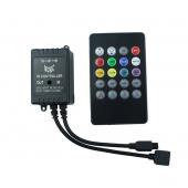 LED Music IR Controller 12V 20Keys Remote For 5050 Strip Light 2pcs