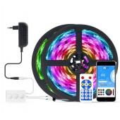 RGB LED Strip Light Bluetooth Music APP Control TV Party Lighting Gear Set