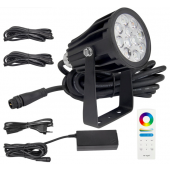 MiLight DC 24V FUTC08A 6W 2.4G RGB+CCT Waterproof LED Garden Light + Power Cable Kit Ourdoor Lighting Gear