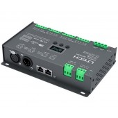 LTECH 3A 16CH DC12V~DC24V CV DMX512 Decoder LT-916-OLED