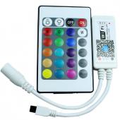 WiFi IR Wireless Control RGB RGBW LED Controller 24 Key IR Remote